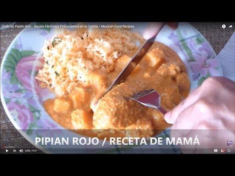 Pipián Rojo con Pollo – Receta Fácil de Arróz Rojo – Cocina facilmente / Mexican Food Recipes