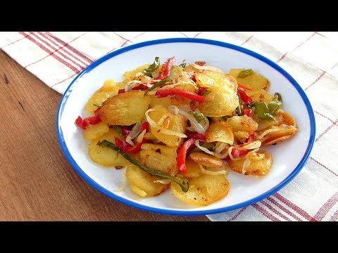 Patatas a lo pobre con pimientos, la RECETA andaluza ORIGINAL