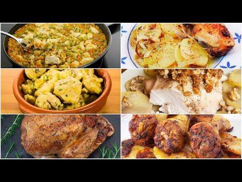 6 Recetas de Pollo ¡Fáciles y Deliciosas!