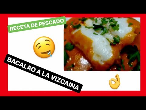 RECETA DE BACALAO A LA VIZCAINA TRADICIONAL ✅ 3 min [Recetas de pescado]