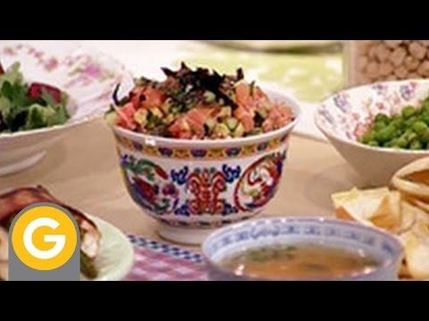 Recetas y secretos de Narda – Pescado con panceta y espárragos – Arroz con hongos – Sopa de miso