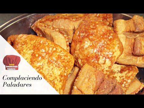 CHICHARRONES de PUERCO receta Complaciendo Paladares