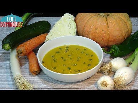 Crema de verduras con calabaza. Receta sana, vegana, vegetariana, fácil y rapida. Loli Domínguez