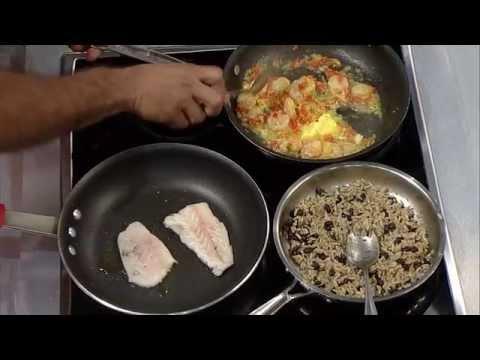 Receta – Filete de pescado con salsa al ajillo