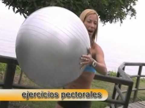 Cienporcientofitness-Ejercicios para pectorales,cintura y espalda con feetball
