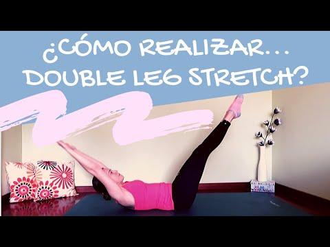 Ejercicios de Pilates: Double leg stretch/ doble estiramiento de piernas