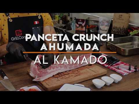 PANCETA DE CERDO AHUMADA Y CROCANTE AL KAMADO | RECETA GRILLCORP