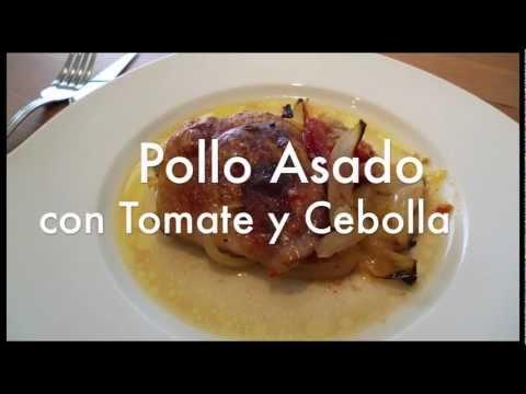 Pollo asado con tomate y cebolla – Recetas de cocina ✅
