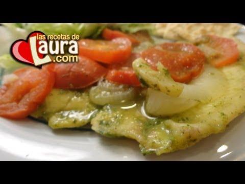 Como hacer FILETE DE PESCADO al cilantro – Comida Saludable – Las Recetas de Laura