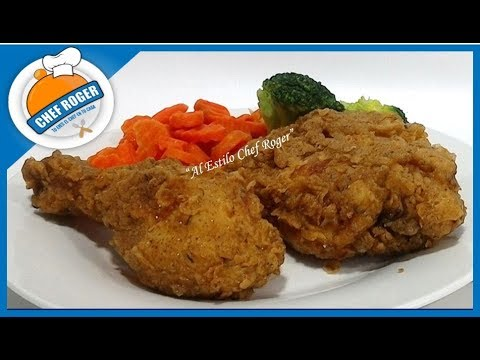 La verdadera receta secreta de pollo KFC y la receta CRUJIPOLLO, receta 465 | Chef Roger