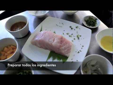 Receta Filete de Pescado & Camarones en salsa de Mango & Puerro por La Pescaderia gourmet.m4v